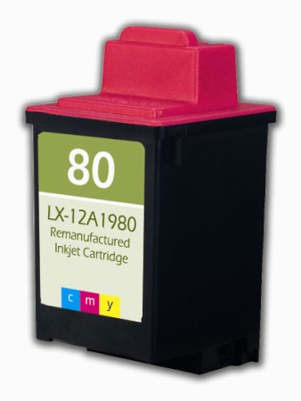 Premium Quality Tri Color Inkjet Cartridge compatible with the Lexmark (Lexmark#80) 12A1980